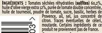 Délice de tomates séchées - Ingrédients