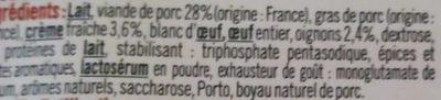 Boudin Blanc Nature - Ingrediënten - fr