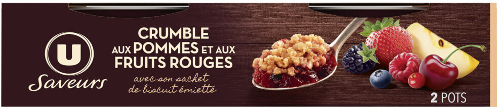 Crumble pommes fruits rouges - Product - fr