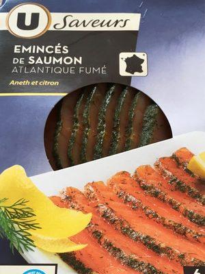 Emincés de saumon atlantique fumé. Aneth et citron - Product