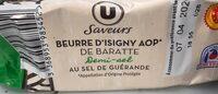 Beurre d'Isigny AOP 1/2 sel de baratte moulé 80%mg - Product - fr
