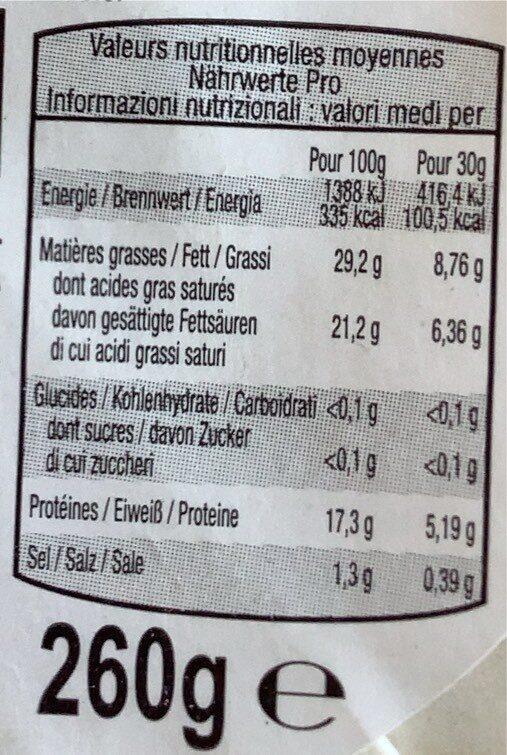 Beurre d'Isigny AOP 1/2 sel de baratte moulé 80%mg - Nutrition facts - fr