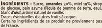 Nougat de Montélimar saveurs - Ingrédients - fr