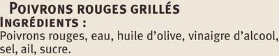 Poivrons rouges grillés - Ingrediënten