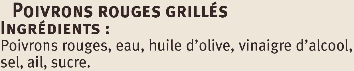 Poivrons rouges grillés - Ingrédients - fr