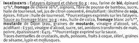 Fatayers chèvre épinard - Ingrédients - fr