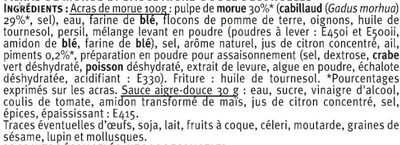 Accras de morue - Ingredients