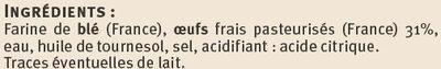 Spaetzle aux oeufs frais - Ingrédients - fr