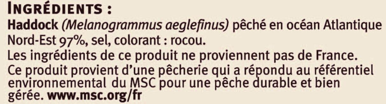 Emincés de haddock fumés Saveurs - Ingrediënten - fr