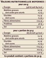 Emincés de haddock fumés Saveurs - Voedingswaarden - fr