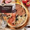 Pizza diavola à base de fromages Provolone et de salami piquant - Prodotto