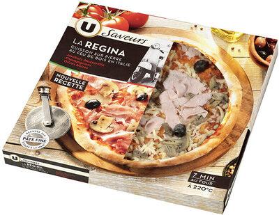 Pizza regina à base de jambon cuit champignons et olives saveurs - Produit