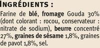 Petits épis pavot sésames - Ingrédients - fr