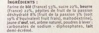 Galettes fruit de la passion - Ingrediënten