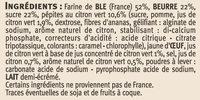 Galettes Citron Vert - Ingredients