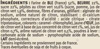 Galettes au citron vert - Ingrédients - fr