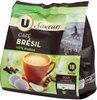 Café moulu Brésil U SAVEURS dosettes souples x18 125g - Produit