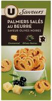 Biscuits apéritifs palmiers saveur olives - Product