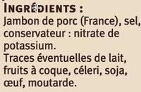 Jambon de Savoie Saveurs - Ingredients - fr