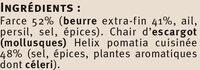 Escargots de Bourgogne Label Rouge - Ingrediënten - fr