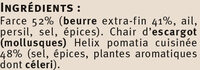 Escargots de Bourgogne Label Rouge Saveur - Ingrediënten - fr
