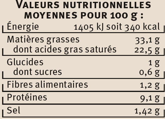Escargots de Bourgogne Label Rouge - Voedingswaarden - fr