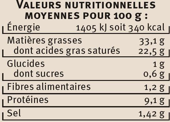 Escargots de Bourgogne Label Rouge Saveur - Voedingswaarden - fr