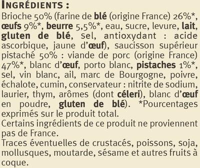 Brioche au Saucisson Spécialité Lyonnaise - Ingrédients
