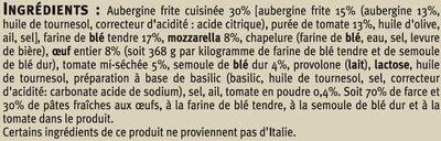 Grandi tondi tomates aubergines mozzarella - Ingrédients - fr