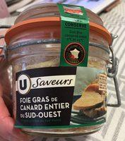 Foie Gras De Canard Entier Igp Du Sud Ouest U Saveurs, Bocal De - Product
