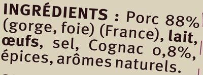 Terrine de porc au cognac - Ingrediënten - fr