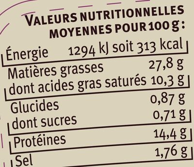 Terrine de porc au cognac - Voedingswaarden - fr