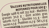 Pâté de campagne breton au sel de Guérande IGP LR - Informations nutritionnelles - fr