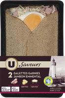 Galettes de blé noir, garnies de jambon supérieur et d'emmental Saveurs - Product - fr