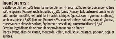 Galettes de blé noir garnies complètes - Ingrédients
