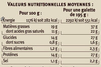 Galette garnie 3 fromages - Nutrition facts - fr