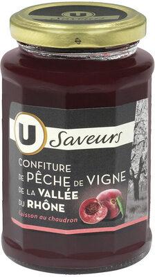 Confiture extra pêches de vigne Vallée du Rhone - Product