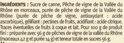 Confiture extra pêches de vigne Vallée du Rhone - Ingredients