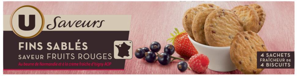 Fins sablés saveur fruits rouges - Product - fr