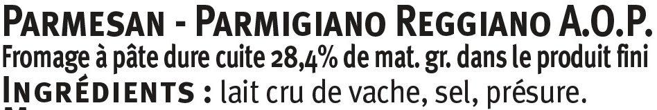 Copeaux de Parmigiano Reggiano AOP lait cru 30%mg - Ingredienti - fr