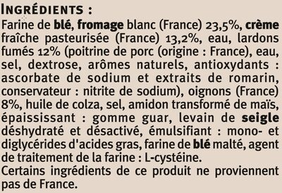 Flammekueche recette alsacienne saveurs - Ingrédients - fr
