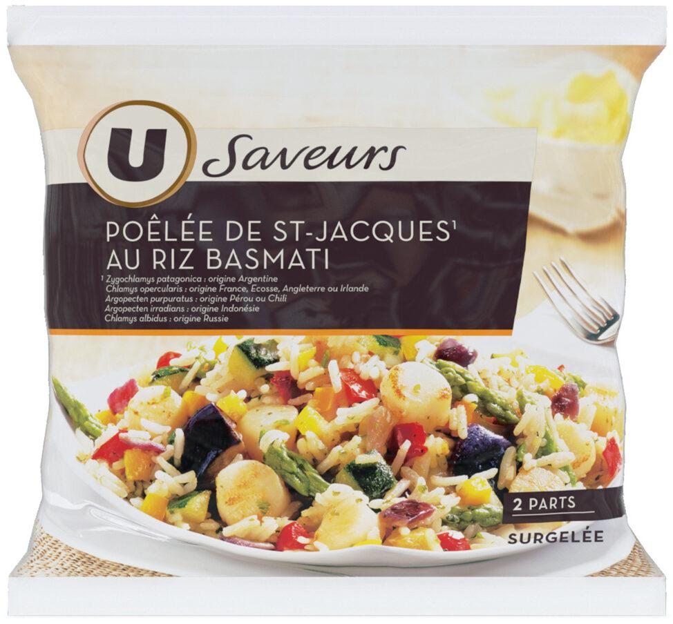 Poêlée de St Jacques au riz basmati Saveurs - Product - fr