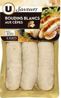 Boudins blanc aux cèpes Saveurs - Produit - fr