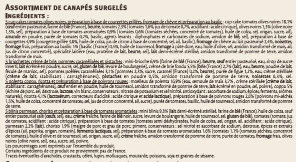 Canapés chauds - Ingredients