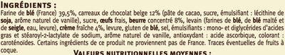 Mini gâches aux carreaux de chocolat Belge - Ingrédients - fr