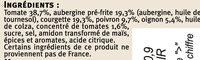 Ratatouille cuisinée en Provence - Ingrédients - fr