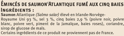 Emincés de saumon aux 5 baies - Ingrediënten - fr
