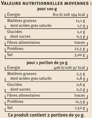 Emincés de saumon aux 5 baies - Nutrition facts