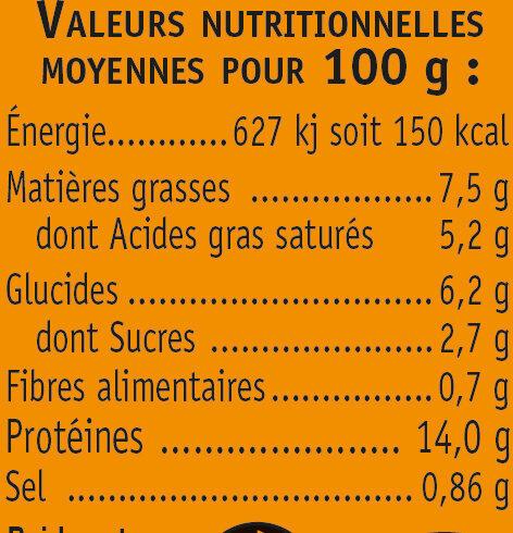 Rillettes de tourteaU_SAVEURS - Nutrition facts - fr