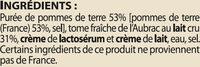 Aligot de l'Aubrac - Ingredients - fr